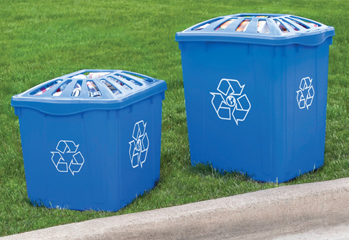 Outdoor Recycling Bin Lids 1 2 3 4 5